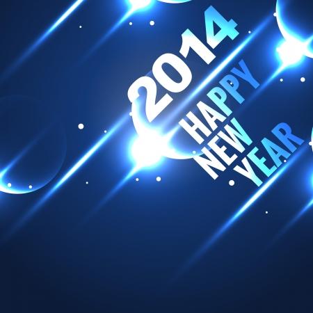 shiny 2014 happy new year design Stock Vector - 24598533