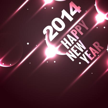 stylish shiny happy new year design background