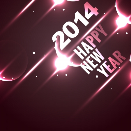 stylish shiny happy new year design background Vector