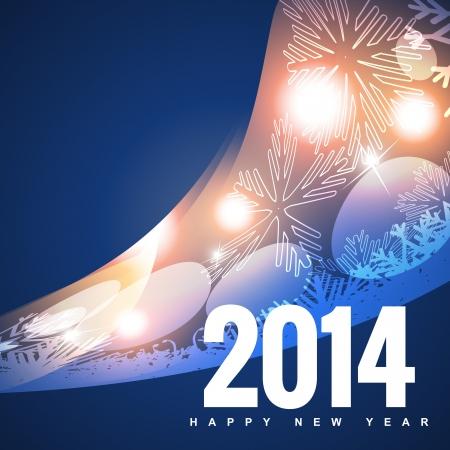 shiny 2014 happy new year design Stock Vector - 24598546