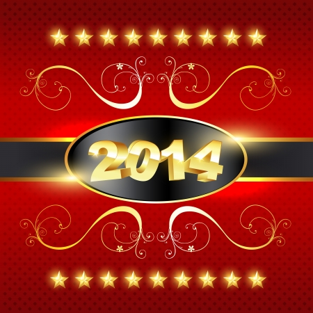 stylish golden happy new year design Stock Vector - 24598566
