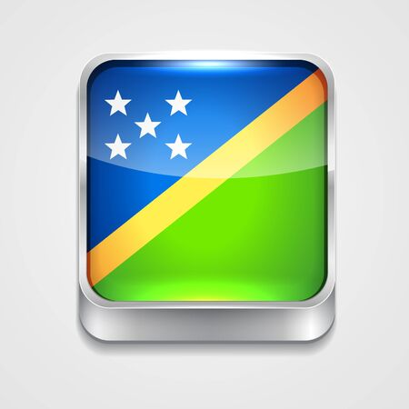 vector 3d style flag icon of solomon islands Vector