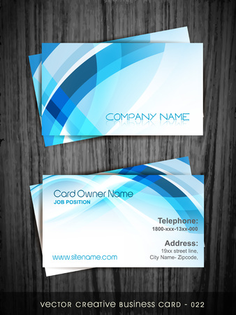 id card: vector blue business card design