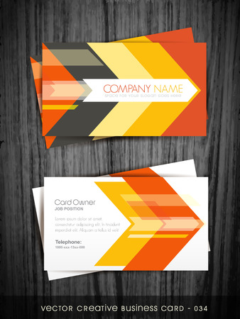 visiting card: arrow style business card vector design