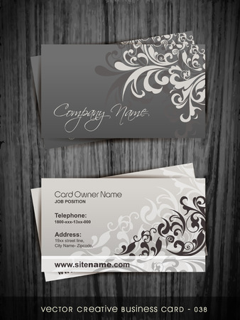 company name: vector business card design