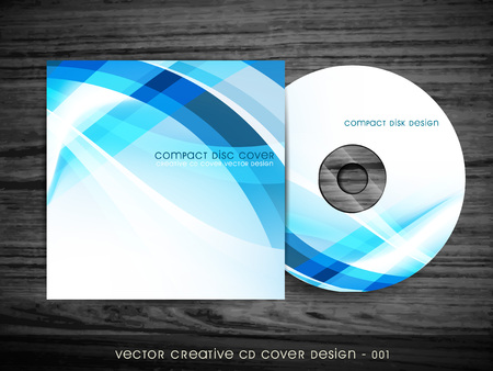 cd label: cd cover design with space for your text Illustration