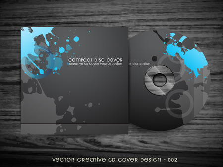 cd case: vector dark abstract style cd cover design Illustration