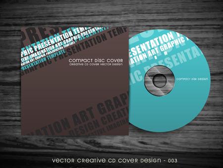 dvd cover: modern style cd cover design Illustration