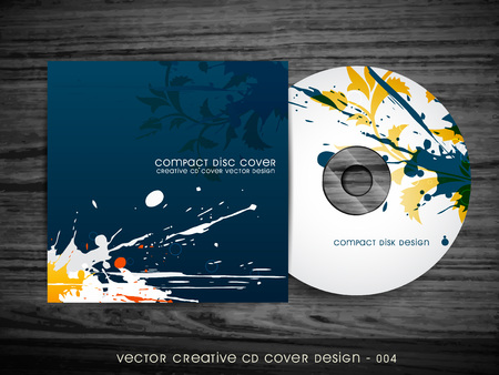 cd label: abstract splash style cd cover design