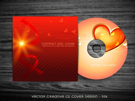 love style cd cover design art Vector