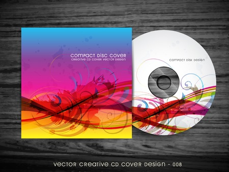 dvd case: colorful abstract style cd cover design
