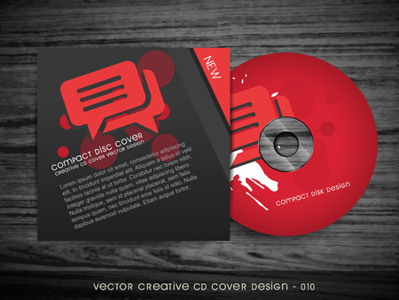 compact disk: cd cover design with space for your text Illustration