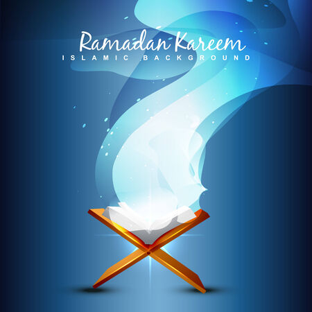 ramzaan: holy book of quraan vector illustration