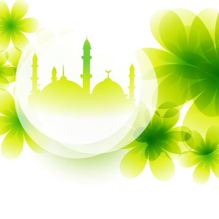 ramzaan: beautiful colorful mosque design illustration