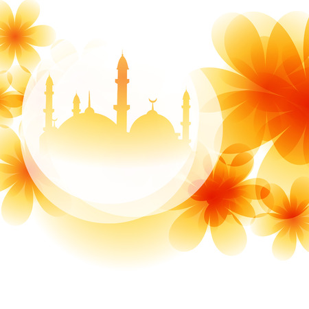 namaz: colorful mosque design background illustration