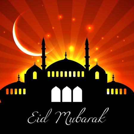 ramzaan: islamic eid festival design background Illustration
