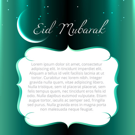 namaz: eid mubarak design with space for your text