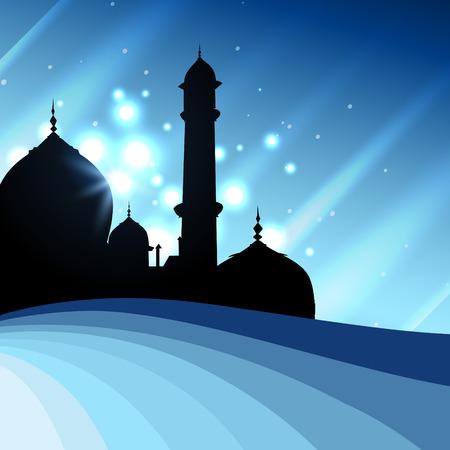 时尚伊斯兰清真寺设计插图