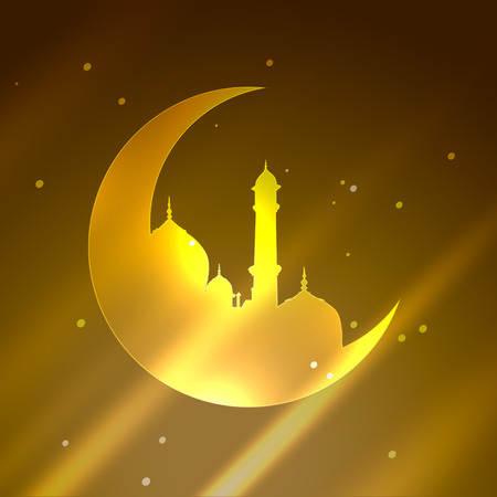 namaz: islamic festival deisgn background illustration Illustration