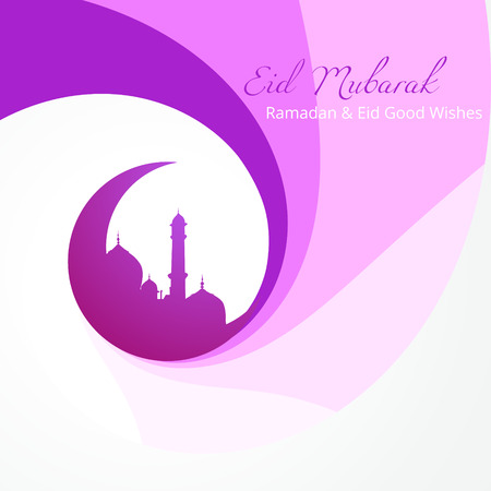 namaz: beautiful eid mubarak design background