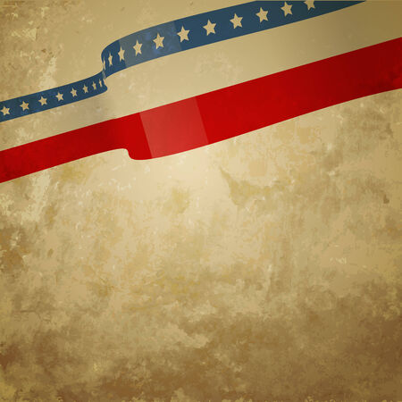 4 july: abstract grunge style american background design