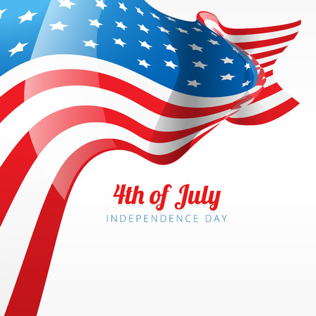 abstract 4th of july flag style background Vector