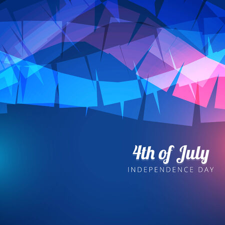 abstract 4th of july background Vector