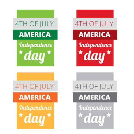 vector set of american independence day Vector