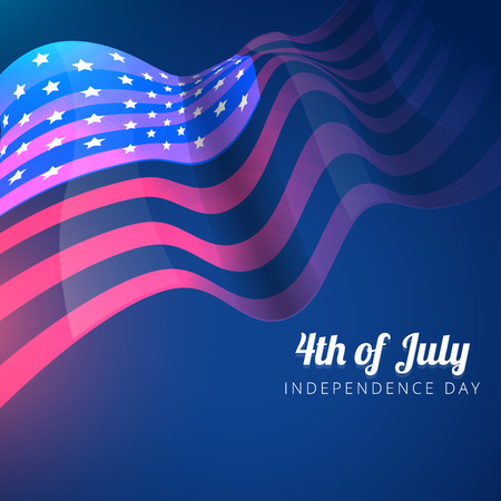 vector american flag 4th of july background