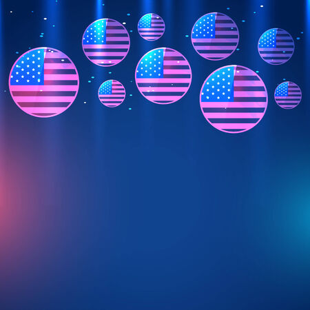 american flag vector illustration design Vector