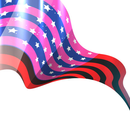 beautiful shiny vector american flag design Vector