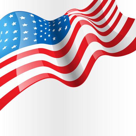 vector american flag design background Vector
