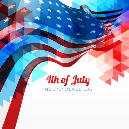 vector abstract style 4th of july background Vector