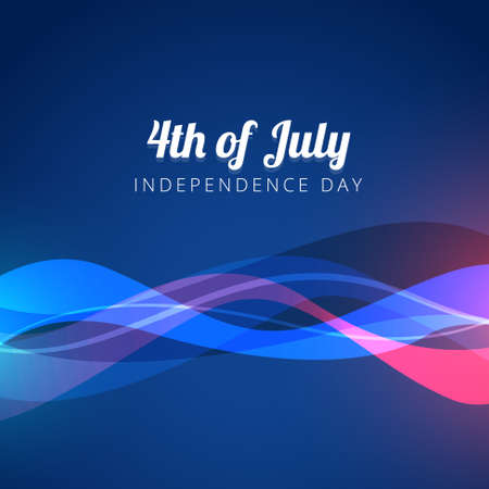 vector wave style 4th of july background Vector