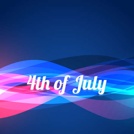 democratic: 4th of july wave style background Illustration