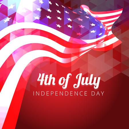 美しい光沢のあるベクトル アメリカ国旗をデザインします。  イラスト・ベクター素材