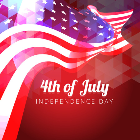 mooie glanzende vector Amerikaanse vlag ontwerp