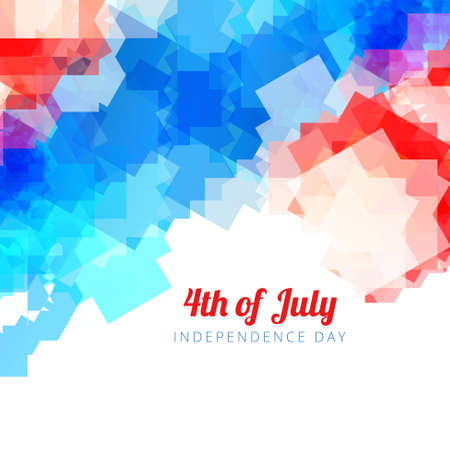 4 july: abstract style 4th of july background Illustration