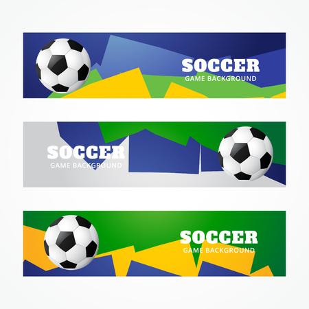 set of football headers design Vector