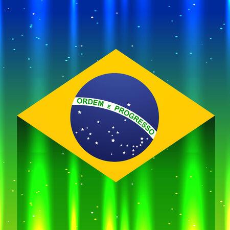 shiny background: brazil flag in shiny background