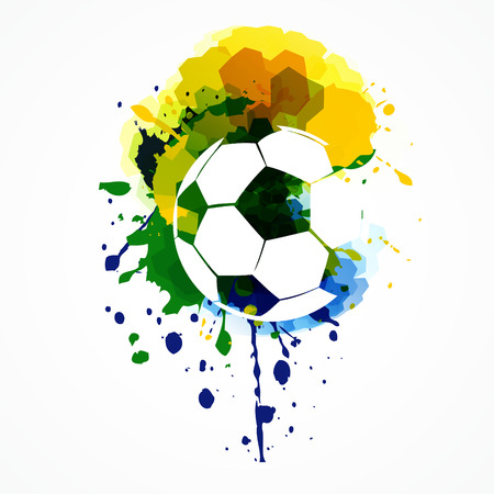 abstract grunge style football design Vector
