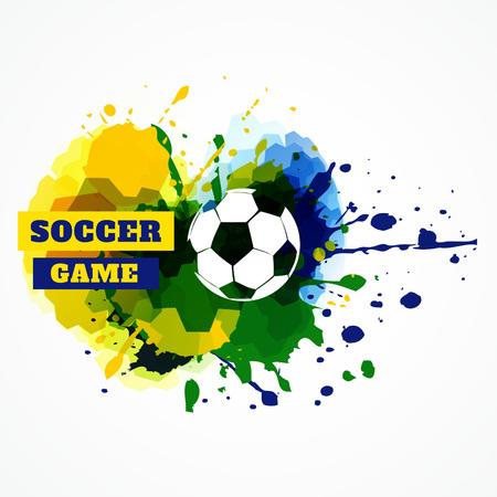 sports event: vector football splash design illustration
