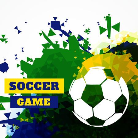 creative abstract football design vector Vector