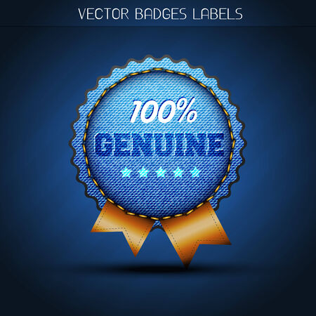 jeans style label design Vector