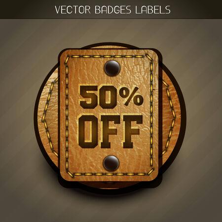 best price: leather discount label design