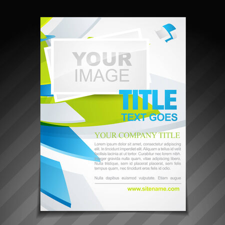 business invitation: company flyer poster template brochure illustration