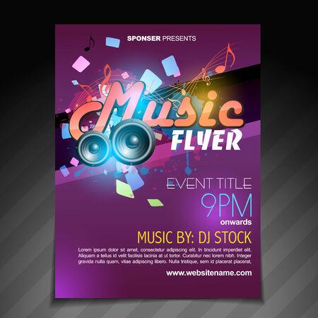 vector music flyer brochure poster template design Vector