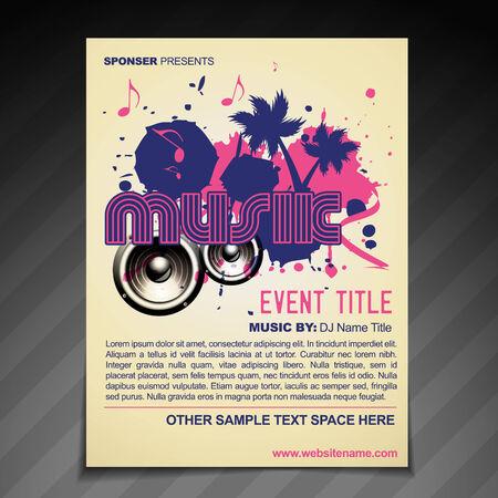 book club: vector music brochure flyer  poster template design