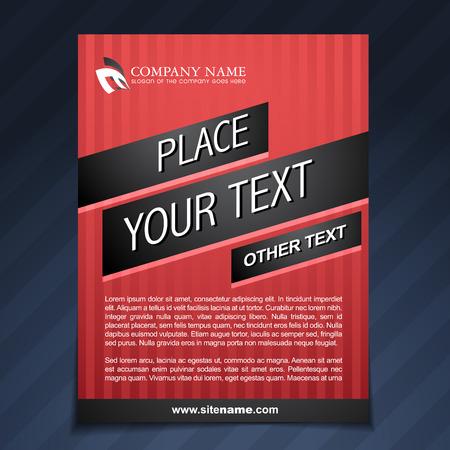 business flyer template brochure illustration Vector