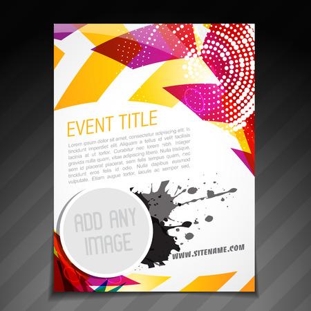 corporate event: vector event  brochure flyer template poster design